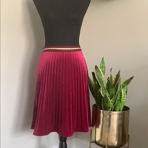 Anthropology pleated velvet skirt NWT XS
